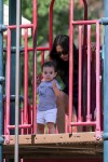Lauren Silverman with son Eric Cowell @ the park in Beverly Hills