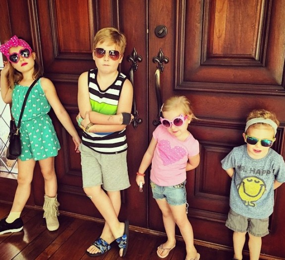 Liam, Stella, Hattie and Finn McDermott - Father's Day