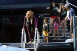 Mariah Carey on a yacht with twins Moroccan and Monroe in Sardinia