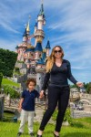 Mariah Carey with her son Moroccon Cannon at Disneyland Paris