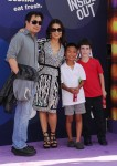 Ming-Na Wen attends the premiere of Inside Out with husband Eric and kids Michaela and Cooper