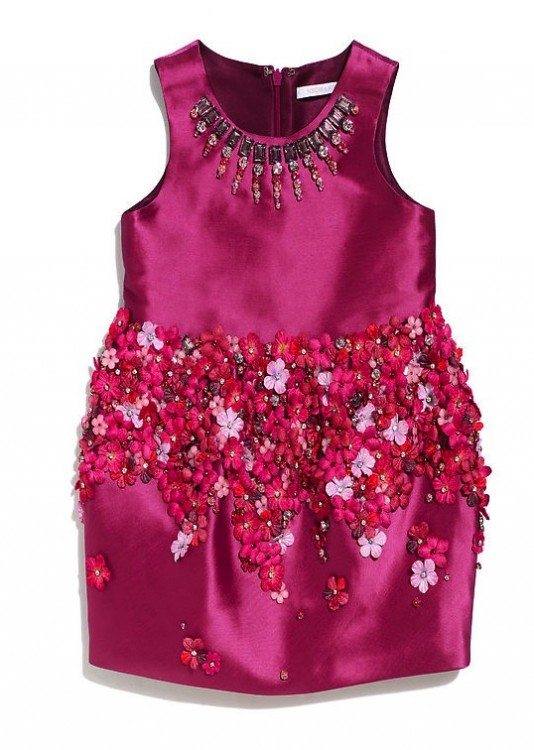 Mischka Aoika ink flower:jewel embellished dress