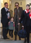 Nicole Kidman & Daughters Sunday Rose & Faith Arrive In Sydney