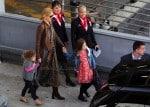 Nicole Kidman & Daughters Sunday Rose & Faith Arrive In Sydney