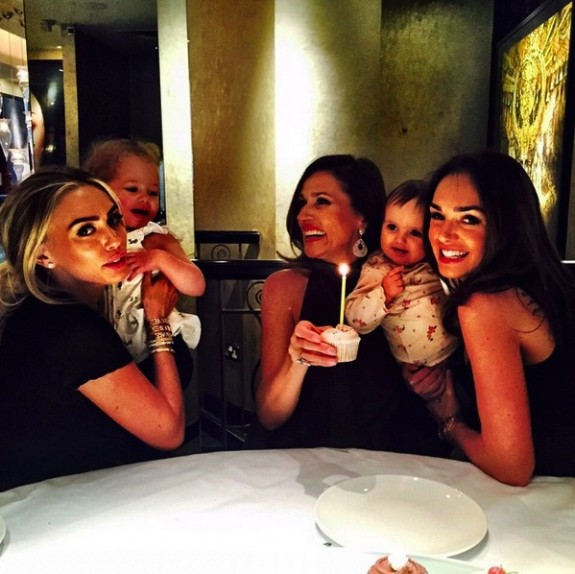 Petra and Tamara Ecclestone celebrate their mom's birthday with their daughters