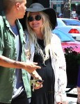 Pregnant Ashlee Simpson with husband Evan Ross out in LA