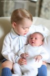Prince George Snuggles  His Baby Sister Charlotte in Newly Released Photos!