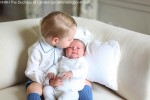 Prince George kisses His Baby Sister Charlotte in Newly Released Photos!