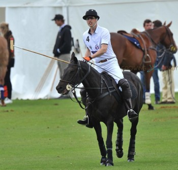 Prince William Plays In A Charity Polo Match
