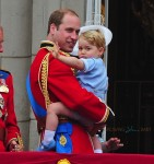 Prince william and Prince George at Trooping the color ceremony