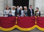 Princess Anne and her family at Trooping the color 2015