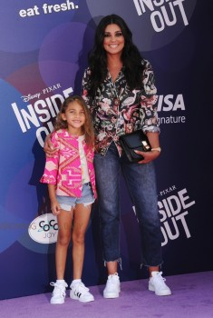 Rachel Roy attends Inside Out Premiere with her daughter