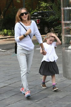 Sarah Jessica Parker dows the school run with her  twins in NYC