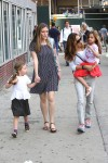 Sarah Jessica Parker with twins Marion and Tabitha Broderick out in NYC