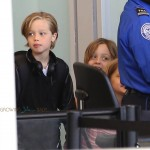 Shiloh and Vivienne Jolie-Pitt at LAX