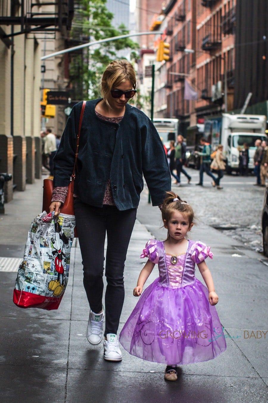 sienna miller with daughter marlowe sturridge dressed as a