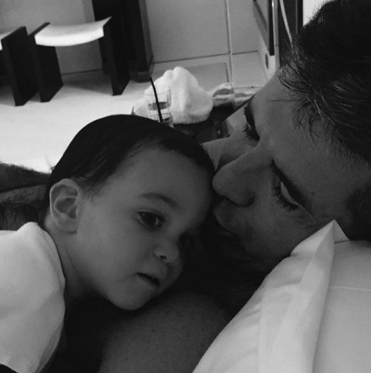 Simon Cowell with son Eric - Father's Day