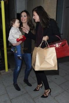 Tamara Ecclestone with daughter Sofia and mom Slavica at Kai restaurant in Mayfair