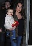 Tamara Ecclestone with daughter Sophia at Kai restaurant in Mayfair