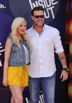 Tori Spelling and Dean McDermott attend the Inside Out Premiere