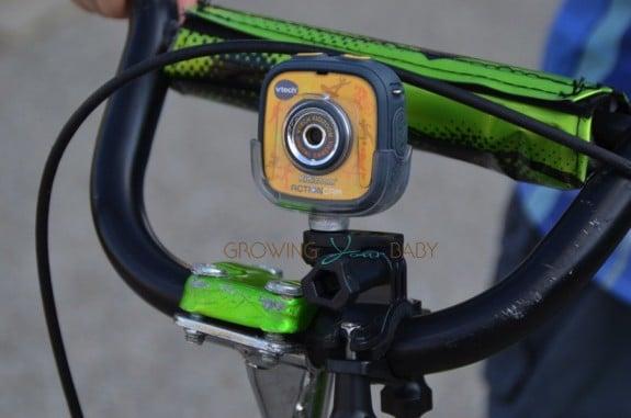 VTECH Kidizoom Action Cam - mounted on a bike