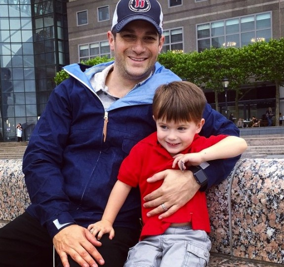 david bugliari with son Milo - Father's Day