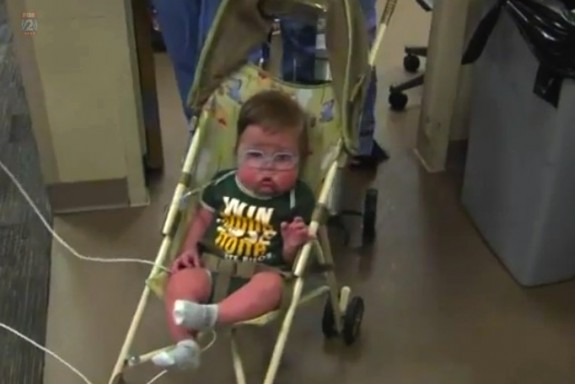 23 week preemie Trevor Frolek leaves the NICU