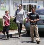 Angelina Jolie at Toys R Us With Kids Shiloh & Pax