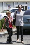 Angelina Jolie at Toys R Us With daughter Shiloh