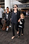 Angelina Jolie departs LAX with daughter Vivian and son Maddox