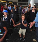 Angelina Jolie departs LAX with kids Maddox, Pax, Knox and Shiloh