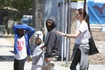 Super couple Brad Pitt and Angelina Jolie celebrate twins Vivienne and Knox's 7th birthday at Ice land in Van Nuys