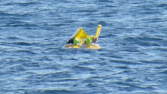 Baby In Inflatable Water Toy Rescued Half A Mile Off The Coast of Turkey