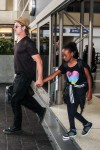 Brad Pitt exits LAX with daughter Zahara