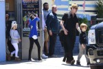 Brad Pitt leaves his twins birthday party with kids Knox, Zahara, Vivienne and Pax