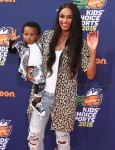 Ciara with son Future Zahir Wilburn at 2015 Nickelodeon Kid's Choice Sports Awards