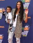 Ciara with son Future Zahir Wilburn at 2015 Nickelodeon Kid's Choice Sports Awards