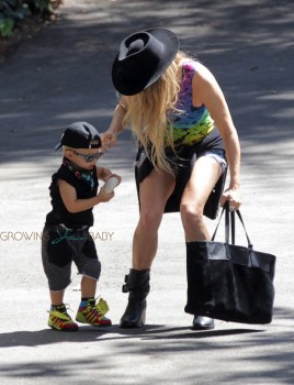 Fergie Steps Out With Her Son, Axl Jack Duhamel