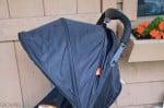 GB Qbit Stroller - canopy half open