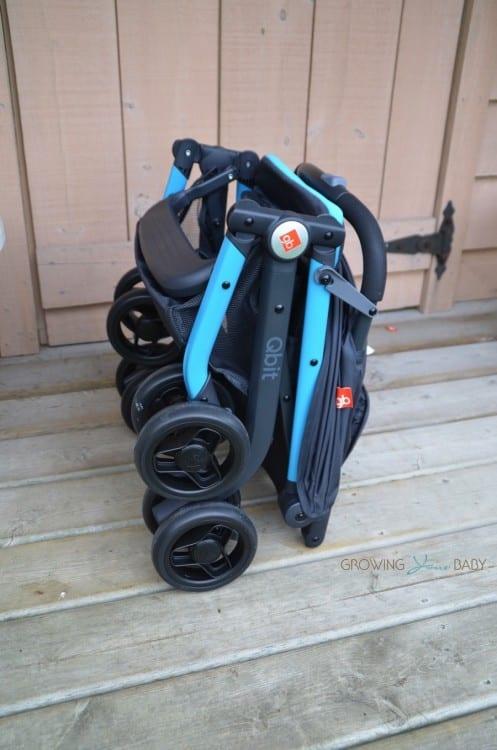 GB Qbit Stroller - folded