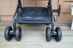 GB Qbit Stroller - storage and wheel locks
