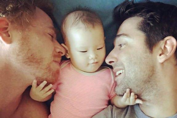 Gordon Allan Lake and Manuel Valero with 6-month-old Carmen