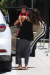 Halle Berry arrives at Westfield Mall in Century City, LA with son Maceo Martinez