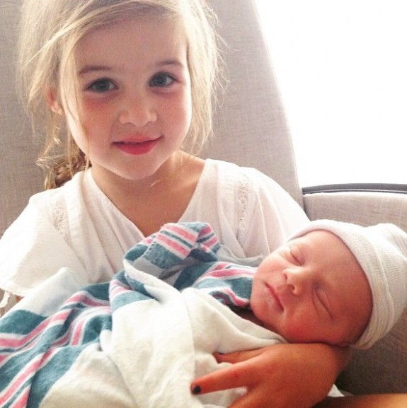 Harper Smith with brother Holt