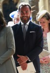 James Middleton at Princess Charlotte's Christening