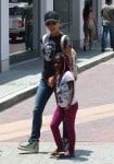 Jillian Michaels with daughter Lukensia at Malibu Country Mart