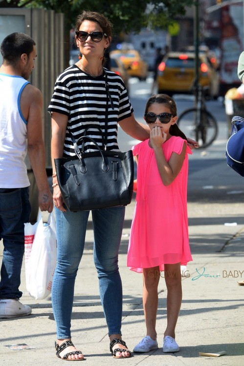 Katie Holmes and daughter Suri Cruise out in NYC