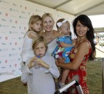 Kelly Rutherford at Super Saturday with kids Helena and Hermes Giersch and Hilaria and Carmen Baldwin