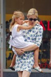Kelly Rutherford out in NYC with daughter Helena Giersch