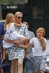 Kelly Rutherford out in NYC with kids Helena & Hermes Giersch